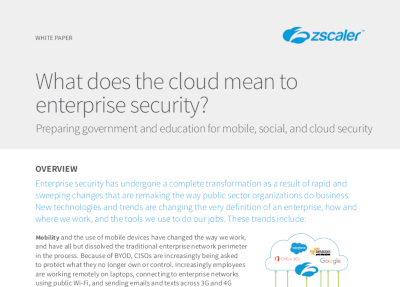 Zscaler What Does the Cloud Mean to Enterprise Security?