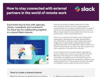 slack How to Stay Connected with External Partners in the World of Remote Work