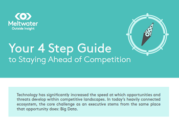 Meltwater Your 4 Step Guide to Staying Ahead of Competition