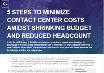 5 Steps to Minimize Contact Center Costs in Shrinking Firms