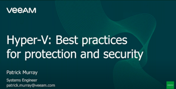 Hyper‑V: best practices for protection and security
