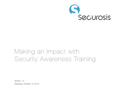 Mimecast Securosis Research: Making an Impact with Security Awareness Training
