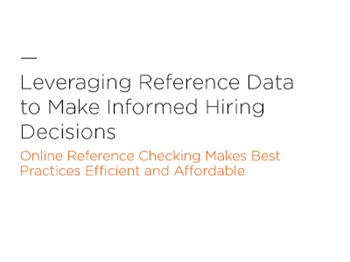 SkillSurvey Leveraging Reference Data to Make Informed Hiring Decisions