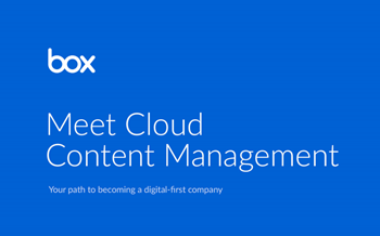 Box Meet Cloud Content Management