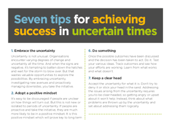 Scott Bradbury Seven Tips for Achieving Success in Uncertain Times