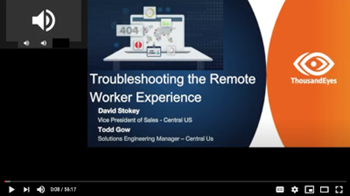 Thousandeyes Troubleshooting the Remote Worker Experience