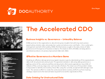 docauthority The Accelerated CDO