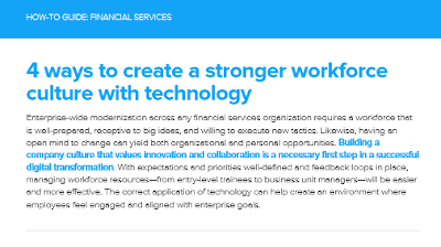 infor 4 Ways to Create a Stronger Workforce Culture in Financial Services with Technology