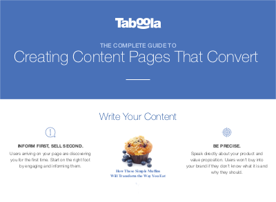 Taboola The Complete Guide to Creating Content Pages that Convert