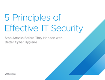VMware 5 Principles of Effective IT Security