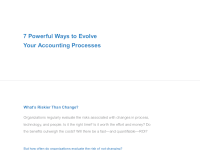 7 Powerful Ways to Evolve Your Accounting Processes