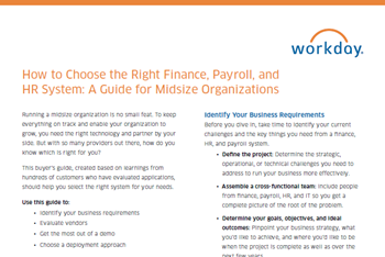 How to Choose the Right Finance, Payroll, and HR System