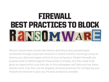 Sophos Firewall Best Practices to Block Ransomware