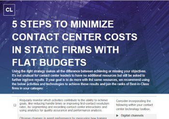 5 Steps to Minimize Contact Center Costs in Static Firms