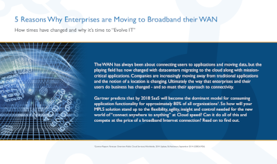 Silver Peak 5 Reasons Why Enterprises are Moving to Broadband their WAN