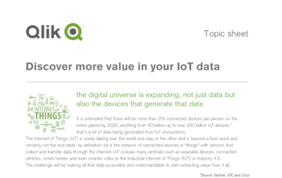 Qlik Discover More Value in Your IoT Data