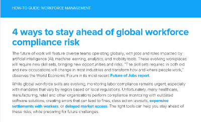 infor 4 Ways to Stay Ahead of Global Workforce Compliance Risk