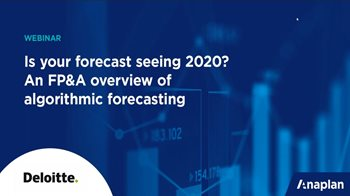 Is Your Forecast Seeing 2020? An FP&A Overview of Algorithmic Forecasting