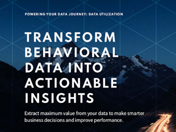 Snowplow Anatlyics -  	Transform Behavioural Data into Actionable Insights