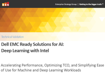 Dell EMC Dell EMC Ready Solutions for AI: Deep Learning with Intel