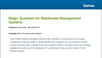 generix-Magic Quadrant for Warehouse Management Systems