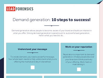Lead Forensics Demand Generation: 10 Steps to Success!