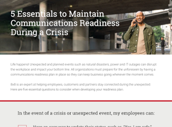 8x8 5 Essentials to Maintain Communications Readiness During a Crisis