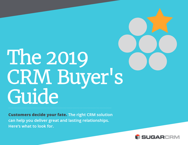 SugarCRM The 2019 CRM Buyer's Guide