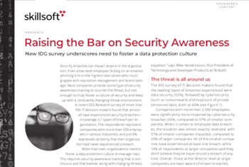 Skillsoft Raising the Bar on Security Awareness