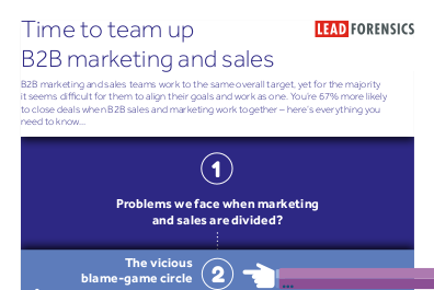 Lead Forensics Time to Team Up B2B Marketing and Sales