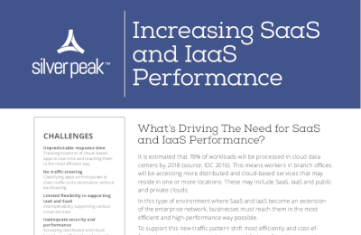 Silver Peak Increasing SaaS and IaaS Performance