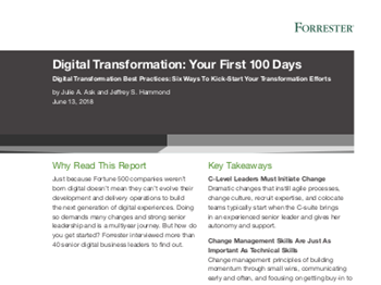 VMware Digital Transformation: Your First 100 Days