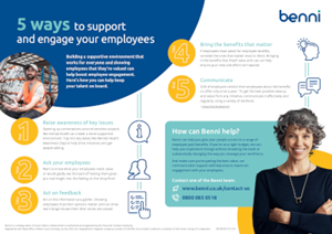 Benni 5 Ways to Support and Engage your Employees