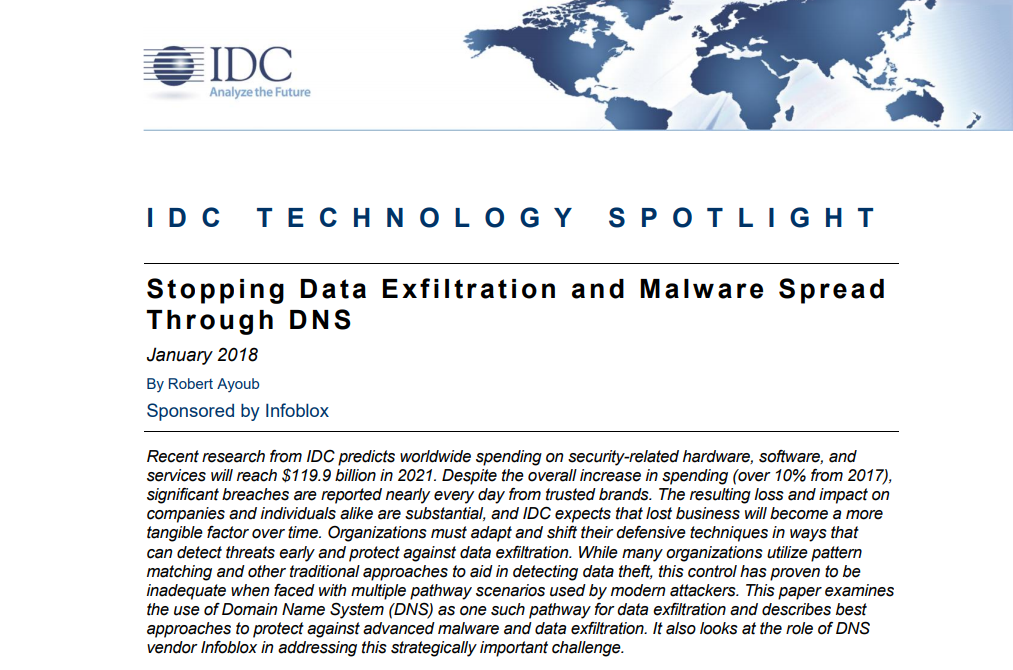 IDC Technology: Stopping Data Exfiltration and Mal
