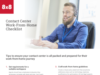8x8 Contact Center Work-From-Home Checklist