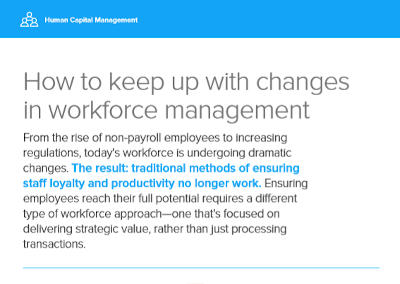 infor How to Keep up with Changes in Workforce Management