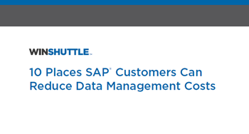 Winshuttle 10 Places SAP Customers Can Reduce Data Management Costs