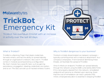 Malwarebytes The TrickBot Emergency Kit