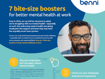 Benni 7 Bite Size Boosters for Better Mental Health at Work