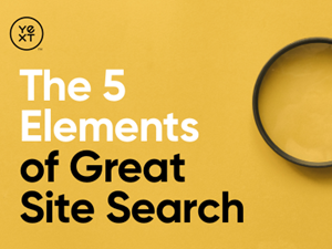 The 5 Elements of Great Site Search